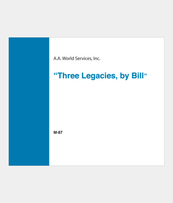 Three Legacies by Bill CD