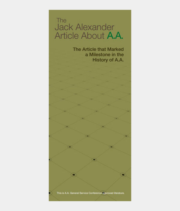 Jack Alexander Article About A.A.
