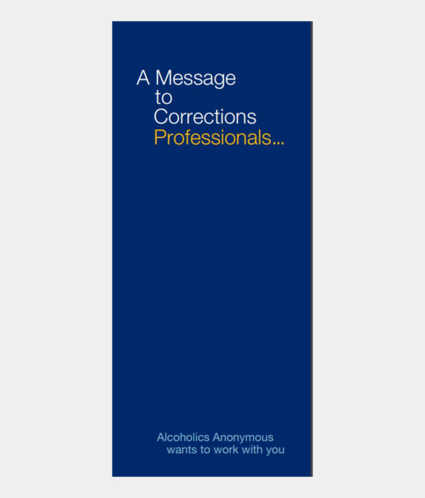 Message to Corrections Professionals