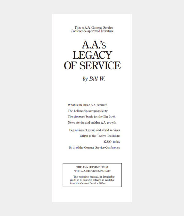 A.A.'s Legacy of Service